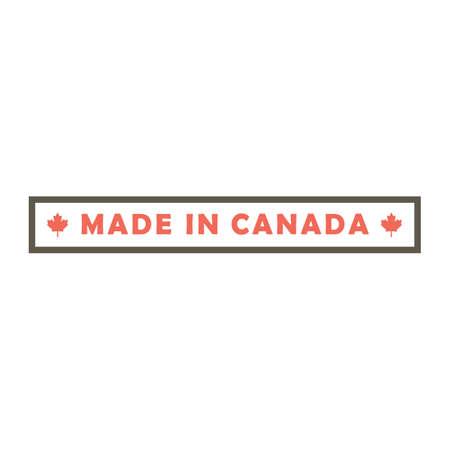 Ilustración de made in canada design - Imagen libre de derechos