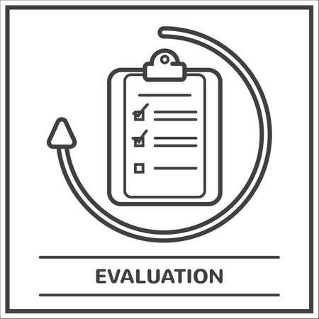 Ilustración de Evaluation - Imagen libre de derechos