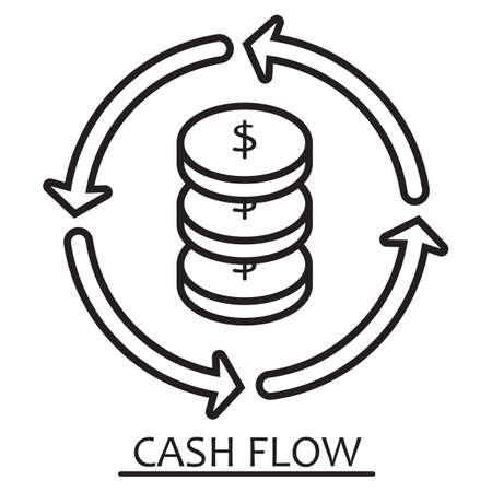Ilustración de cash flow concept - Imagen libre de derechos