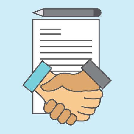 Ilustración de Agreement handshake - Imagen libre de derechos
