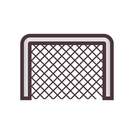 Illustration pour football net - image libre de droit