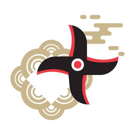 Ilustración de shuriken - Imagen libre de derechos