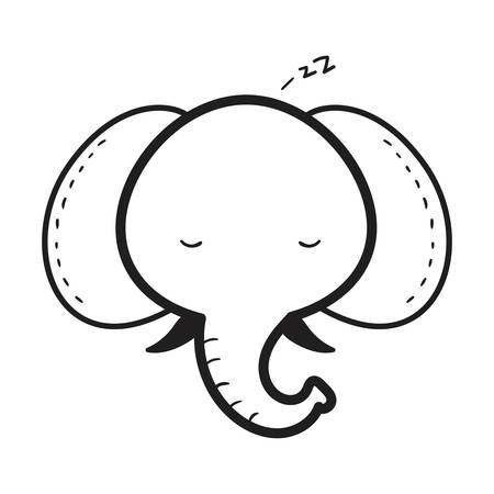 Illustration for elephant - Royalty Free Image