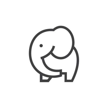 Illustration for An elephant illustration. - Royalty Free Image