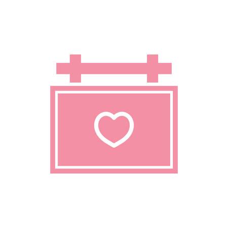 Illustration pour calendar with heart symbol - image libre de droit