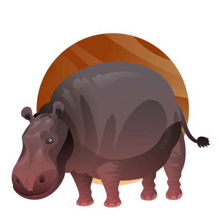 Illustration for A hippopotamus illustration. - Royalty Free Image