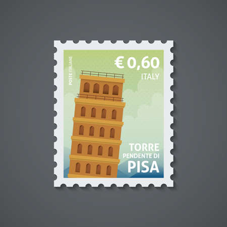 Ilustración de italy postage stamp - Imagen libre de derechos