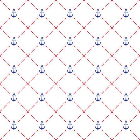 Illustration pour A seamless anchor pattern illustration. - image libre de droit