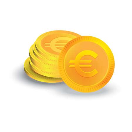 Ilustración de Euro coins - Imagen libre de derechos