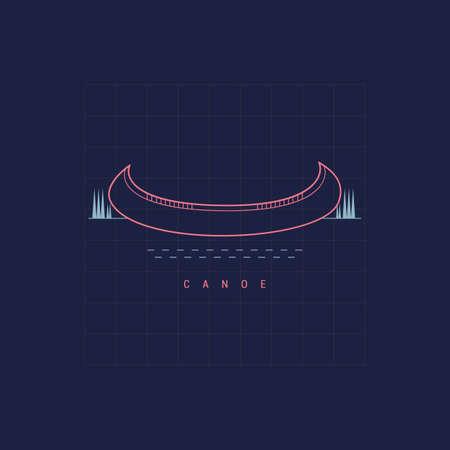 Ilustración de canoe - Imagen libre de derechos