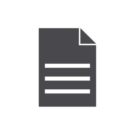 Illustration for A document illustration. - Royalty Free Image