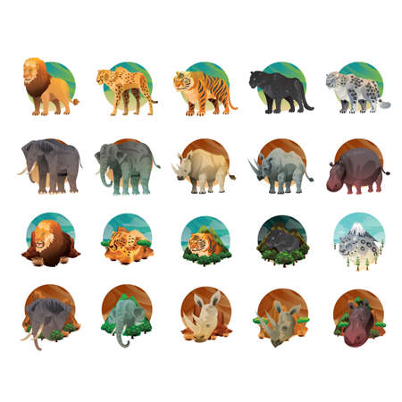Illustration for collection of animals - Royalty Free Image