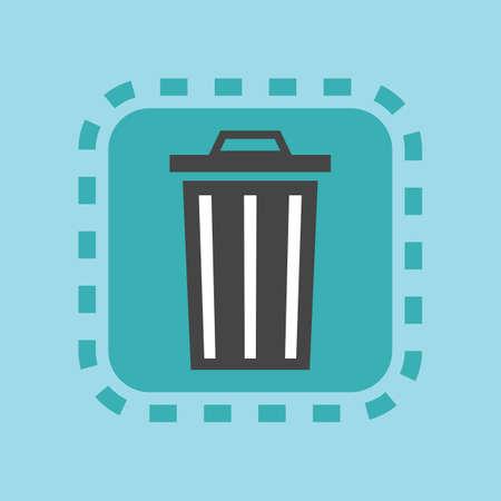 Ilustración de recycle bin icon - Imagen libre de derechos