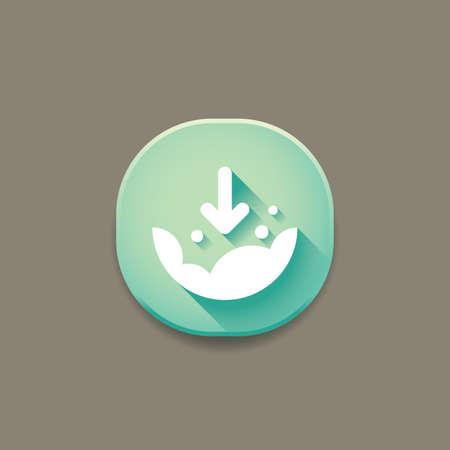Illustration pour cloud download icon - image libre de droit