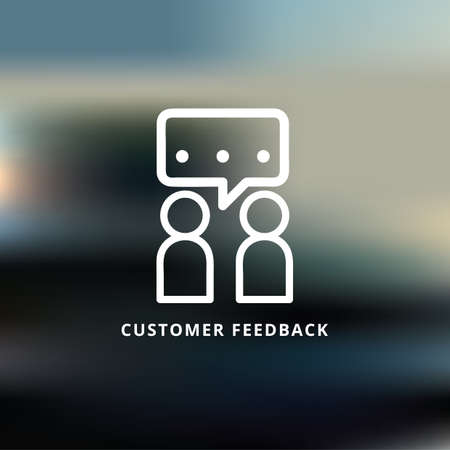 Ilustración de customer  feedback - Imagen libre de derechos