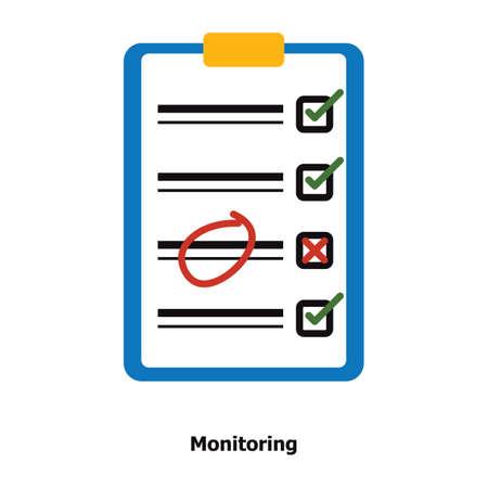 Illustration pour Clipboard with checklist - image libre de droit
