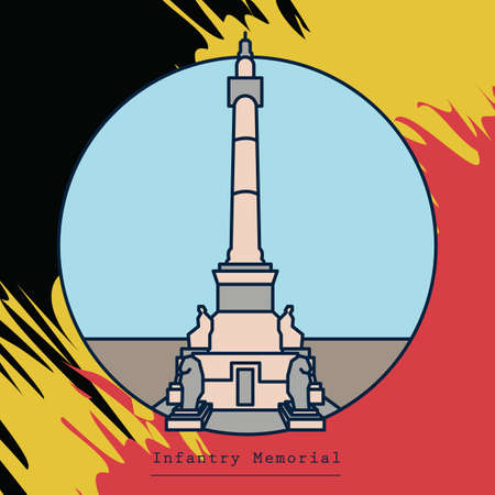 Illustration pour Infantry memorial - image libre de droit