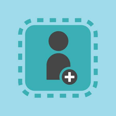 Illustration pour An add user icon illustration. - image libre de droit