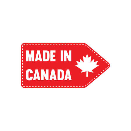 Ilustración de made in canada label - Imagen libre de derechos