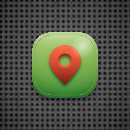 Illustration pour map pointer icon - image libre de droit
