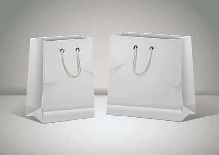 Illustration pour paper bags - image libre de droit