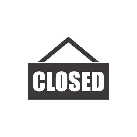 Illustration for closed sign - Royalty Free Image