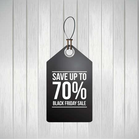 Illustration pour black friday sale tag - image libre de droit