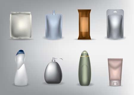 Illustration pour set of cosmetic packages - image libre de droit