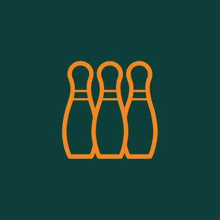 Illustration pour bowling pins - image libre de droit