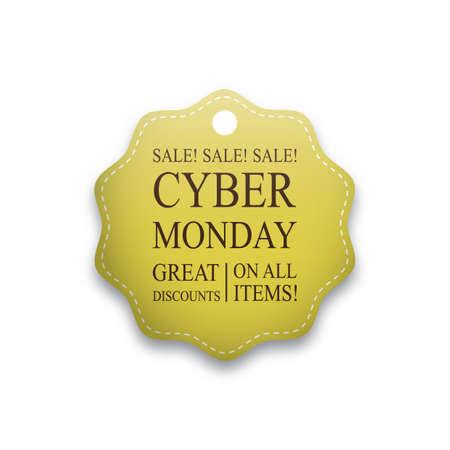 Ilustración de cyber monday sale tag - Imagen libre de derechos