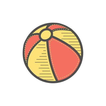 Ilustración de beach ball - Imagen libre de derechos