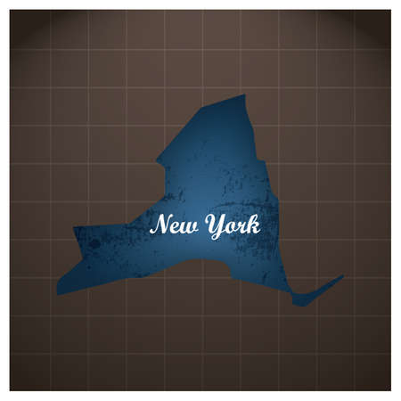 Illustration for new york state map - Royalty Free Image