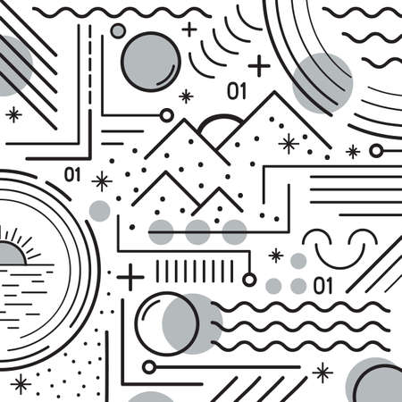 Illustration for abstract design - Royalty Free Image