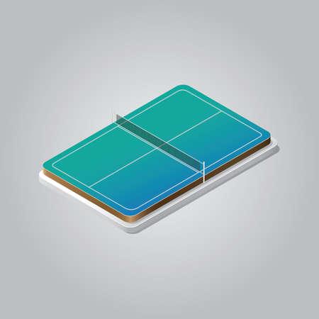 Ilustración de table tennis court - Imagen libre de derechos