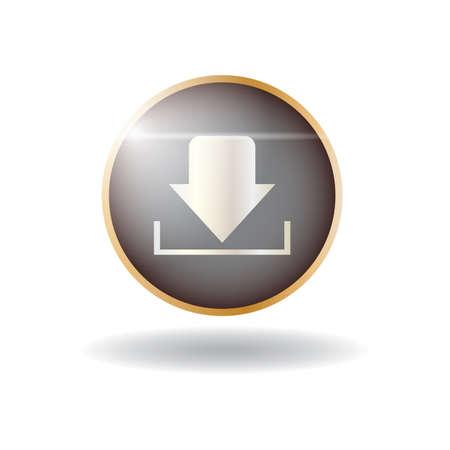 Illustration pour download icon - image libre de droit
