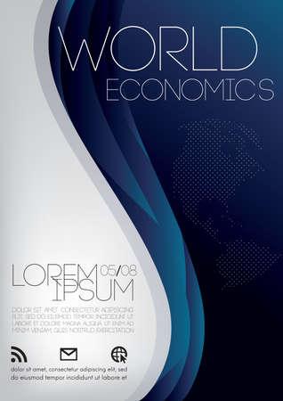 Ilustración de world economics poster - Imagen libre de derechos