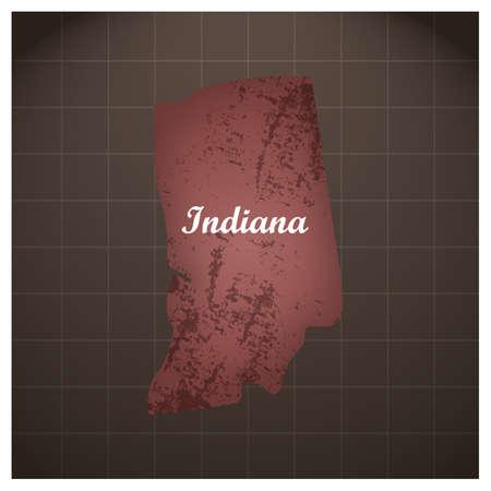 Illustration pour indiana state map - image libre de droit