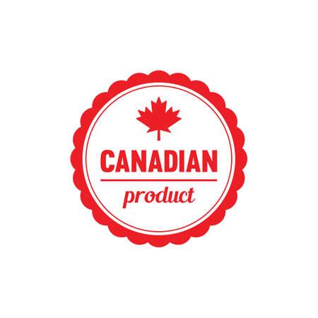 Ilustración de Canadian product label - Imagen libre de derechos