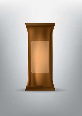 Illustration pour brown paper pack - image libre de droit