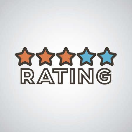 Ilustración de rating - Imagen libre de derechos