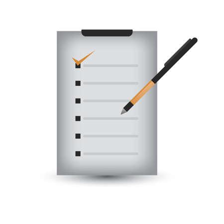 Illustration for checklist - Royalty Free Image