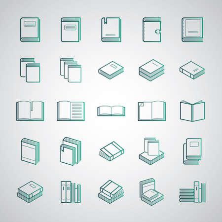 Illustration pour Collection of books and diaries - image libre de droit