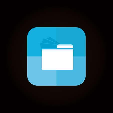 Illustration pour file manager icon - image libre de droit