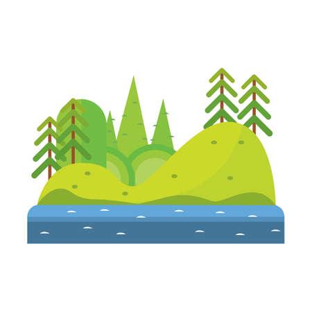 Ilustración de landscape of nature - Imagen libre de derechos