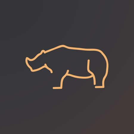 Illustration for rhinoceros - Royalty Free Image