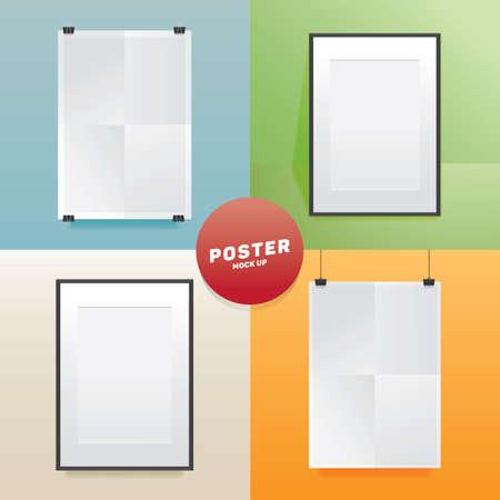 Ilustración de set of posters mock up - Imagen libre de derechos