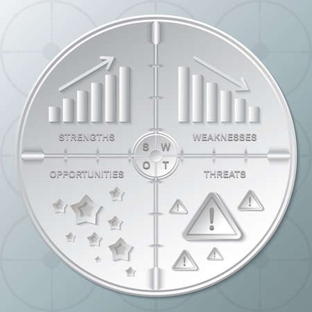 Ilustración de Business strategy concept - Imagen libre de derechos