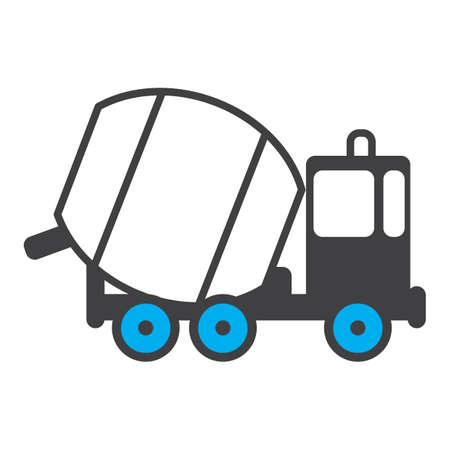 Illustration pour concrete mixer truck - image libre de droit