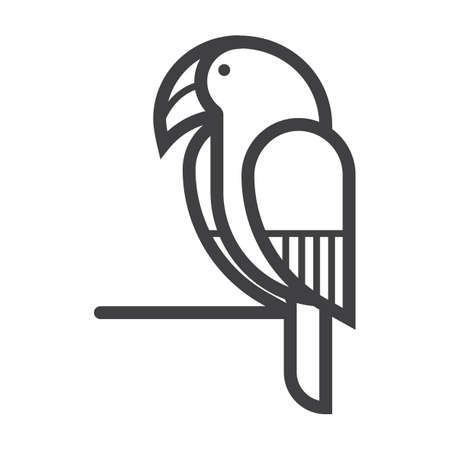 Illustration for parrot - Royalty Free Image