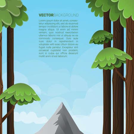 Illustration pour Trees background - image libre de droit